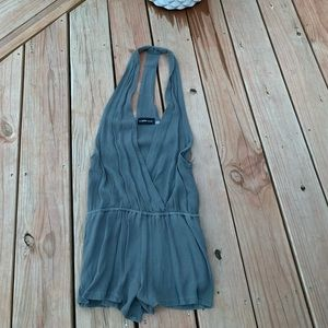 Fashionable Gray Overalls